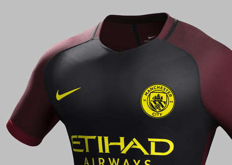 Worked Bee-Inspired Jerseys - The Manchester City Away Jersey Pays Tribute To a Local Symbol