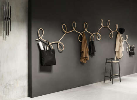 Curvaceous Waltz Coat Racks - GamFratesi's Coat Hanger Features a Swirled Design Inspired By Dance