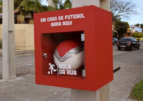 Children's Sports Program Campaigns - This Soccer Campaign Encourages Community Interaction