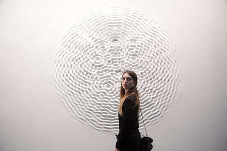 Liquefied Wall Art - This Textured Wall Art Installation Makes Partitions Look Like Pools of Water