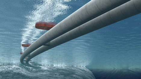Submerged Transportation Bridges - The Norwegian Fjords Floating Tunnel Places Traffic Underwater