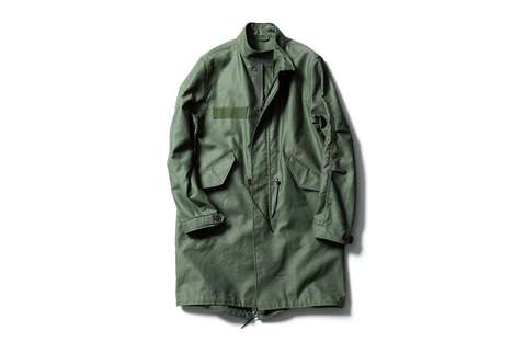 Luxe Military Menswear - This SOPHNET. Series Experiments with Military Uniform Styles and Color