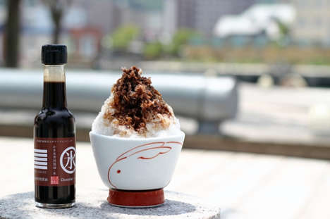 Chocolate-Flavored Soy Sauces - This Japanese Soy Sauce is Designed to Be Served Over Shaved Ice