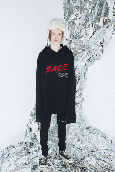 Oversized Gothic Streetwear - SUB-AGE's Collection Intermingles Goth and Punk Clothing Styles