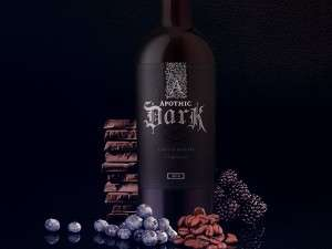 Robust Gothic Wines - Apothic Wines Opt for Medieval Packaging to Mirror the Dark Aroma Blends