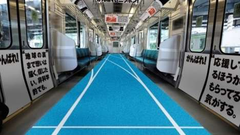 Running Track Trains - This Themed Tokyo Train Celebrates the Japanese Team at the Olympics