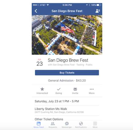 Social Media Ticketing Services - The New Facebook Tool Allows Users to Purchase Event Tickets
