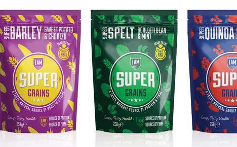 Microwaveable Grain Pouches - I Am Super Grains is a New Line of Healthy and Convenient Side Dishes
