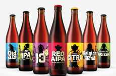 Contrasting Beer Designs - These Opposing Beer Bottle Packages Were Created for Different Purposes