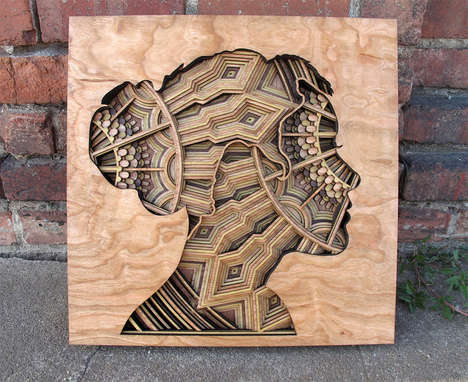 Laser-Cut Wooden Art - These Pieces of Art Were Created By Layering and Cutting Wood
