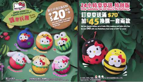 Fruity Fast Food Toys - McDonald's New Toys Feature Sanrio Characters in the Shape of Various Fruits