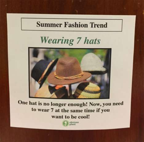 Satirical Fashion Posters - Jeff Wysaski Put Up Posters in a Mall That Featured Fake Fashion Advice
