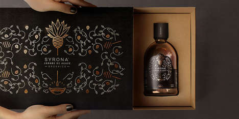 Elegant Agave Packaging - This Agave is Packaged in a Way That Reveals Its Healthy Qualities