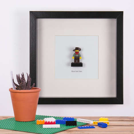 Personalized LEGO Figurines - These Framed LEGO Characters Match the Owner's Appearance