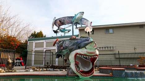 Fandom-Inspired Water Slides - 'Super-Fan Builds' Built a Giant Sharknado-Inspired Water Slide