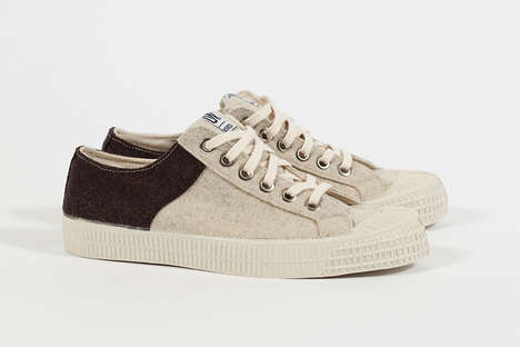Textured Wool Sneakers - Universal Works and Novesta Shoes Collabored for the 'Star Masters' Series