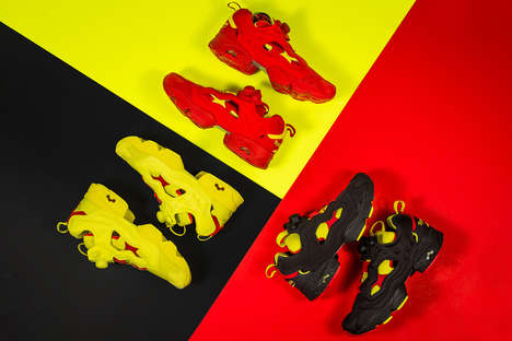 Revitalized Neon Sneakers - Reebok and Packer Shoes Joined for the Instapump Fury 'OG Division'