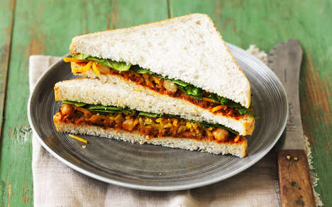 Portable Vegetarian Sandwiches - This New Vegetarian Sandwich Range Features Flavorful Options