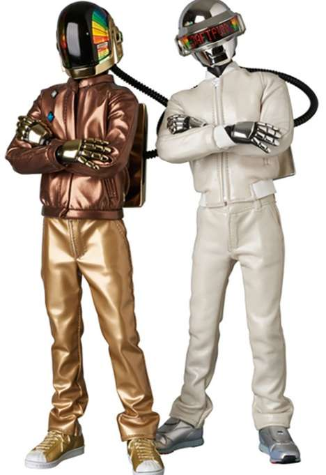 Iconic Producer Action Figures - Medicom Toy's Daft Punk Collectibles Feature Accurate LED Helmets
