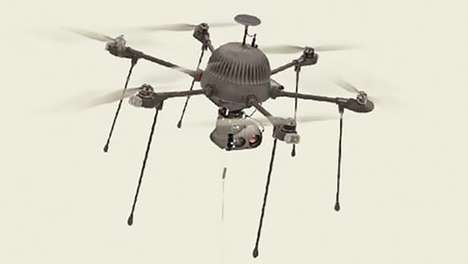 Tethered Military Drones - This New Drone Uses a Communication Tether For Enhanced Utility