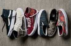 Woven Sports Shoes - The New Vans Collection Features Artistic Woven Designs