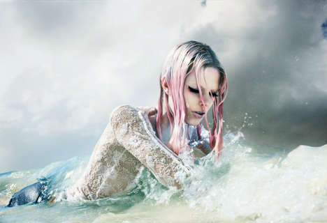 56 Underwater-Inspired Mermaid Creations - From Sea-Themed Shooters to Surreal Fashion Editorials