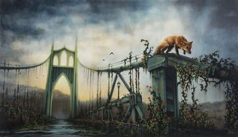 Post-Apocalyptic Cityscapes - Brin Levinson's Collection Features Animals Roaming Forgotten City