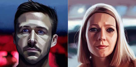 Iconic Movie Character Portraits - Evgeny Lukovenko Made Digital Art Reinterpretations of 30 Figures
