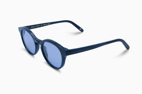 Overcast Jean Sunglasses - Dick Moby's Tenue de Nîmes Eyewear Features Lenses Suited to the Weather