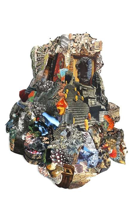 Intricate Collage Paintings - These Works of Art are Created Using Abstract and Intricate Techniques