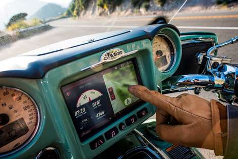 Commanding Infotainment Systems - The Ride Command System Enhances Motorbiking-Riding Experiences