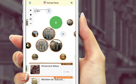 Attraction-Based Navigation Apps - The Kompl App Helps Travelers Get Lost and Explore a New City