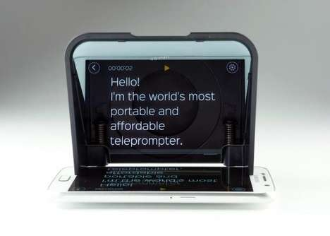 Smartphone-Adapted Teleprompters - The 'Parrot 2' is an App-Based Teleprompter for Prosumers