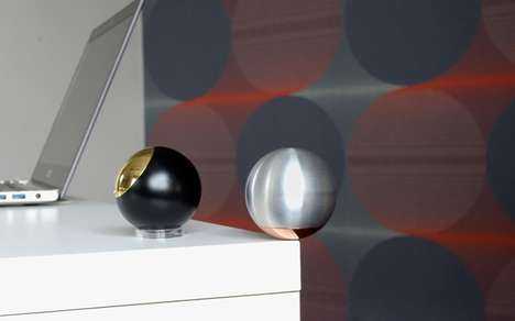 Discreet Storage Spheres - This Spherical Decoration Can Hold Small Items