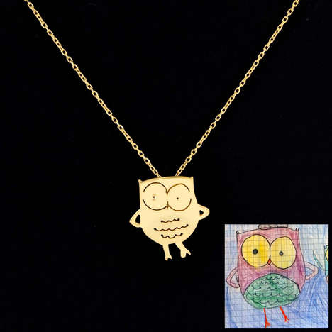 Childlike Jewelry Designs - These Jewelry Pieces Were Inspired by Children's Doodles