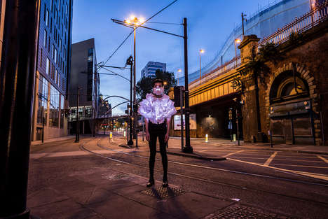 Pollution Awareness Performances - This Artist Makes Pollution Visible Through Hi-Tech Capes
