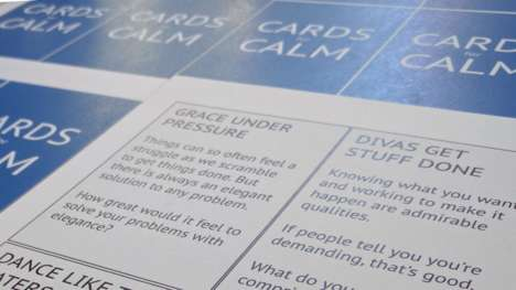Anxiety-Alleviating Card Games - 'Cards for Calm' is a Game That Discourages Negative Thinking