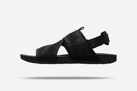 Zig-Zag Woven Sandals - These Nike Sandals Feature an Overlapping Design