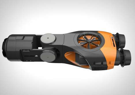 Underwater Drone Concepts - The 'Remote Operated Vehicle' is a Camera-Mounted Submarine Drone