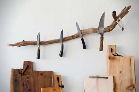 Arboreal Knife Racks - The Messerast Wall Hanger Provides a Rustic Place to Keep Kitchen Utensils