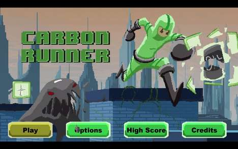 Environmental Ninja Games - Carbon Runner is an Endless Runner Video Game About Climate Change