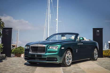 Ocean-Inspired Luxury Cars - This Special-Edition Rolls Royce is Inspired by an Italian Island