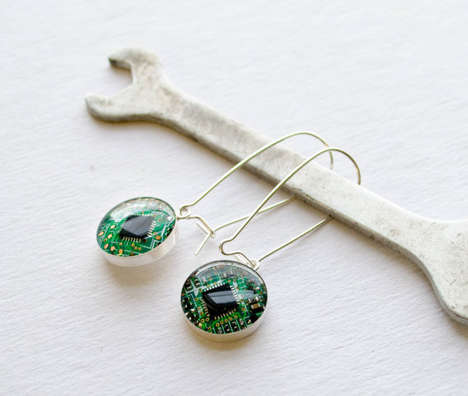 Recycled Circuit Board Jewelry - These Jewelry Pieces are Created to Reduce Tech Waste