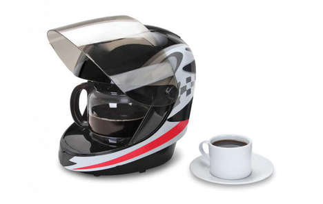 Racing Helmet Coffeemakers - This Brewing System is Creatively Disguised as a Motorcycle Accessory
