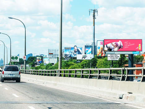 Traffic-Sensing Billboards - INRIX Billboards are Able to Change Ads Based on Traffic Speed
