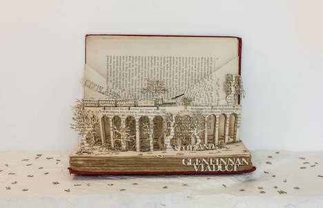 Pop-Up Book Sculptures - This Scotland Art Piece Showcases an Iconic Bridge