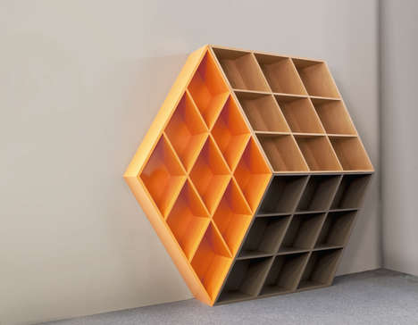 Cube-Shaped Bookcases - This Bookcase Was Inspired by a Well-Known Puzzle