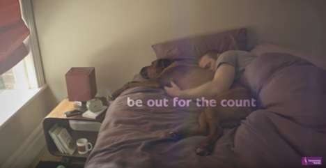 Comfort-Focused Furniture Ads - Bensons for Beds' #becomfortable Ad Focuses on Contentment