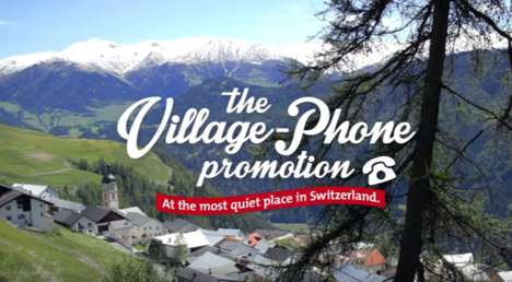 Quaint Tourism Campaigns - The Village-Phone Promotion Had Callers Interrupting a Quiet Swiss Town