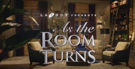 Soap Opera Furniture Ads - The 'As the Room Turns' Ad Draws Inspiration from Daytime TV
